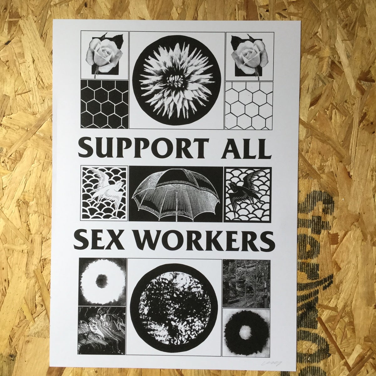 Image of Support All Sex Workers A3 art print