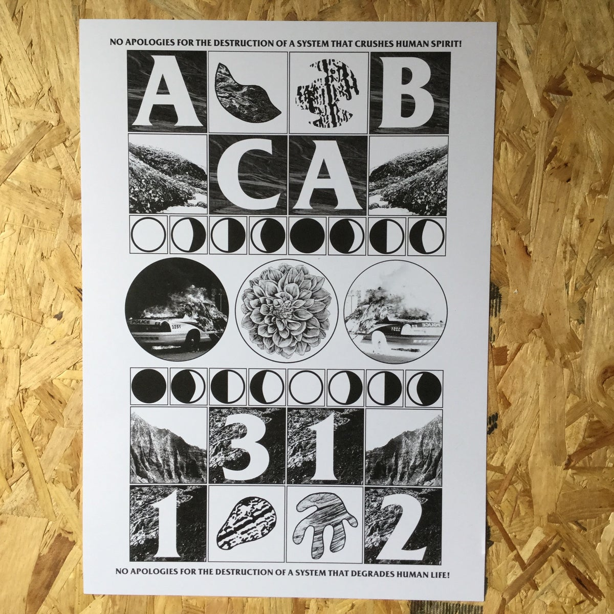 Image of ACAB A3 art print