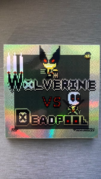 Image of Wolverine vs. Deadpool Holo Effect Sticker