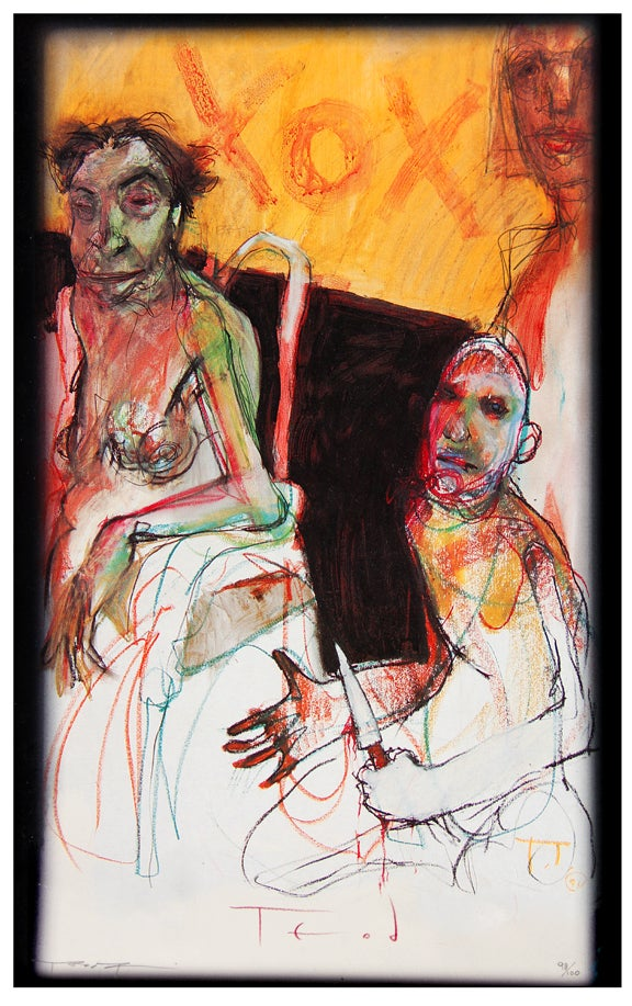 """Image of Teod """"PRISON SEX"""" Limited Edition Giclée 17"""" x 22"""" signed and numbered"""