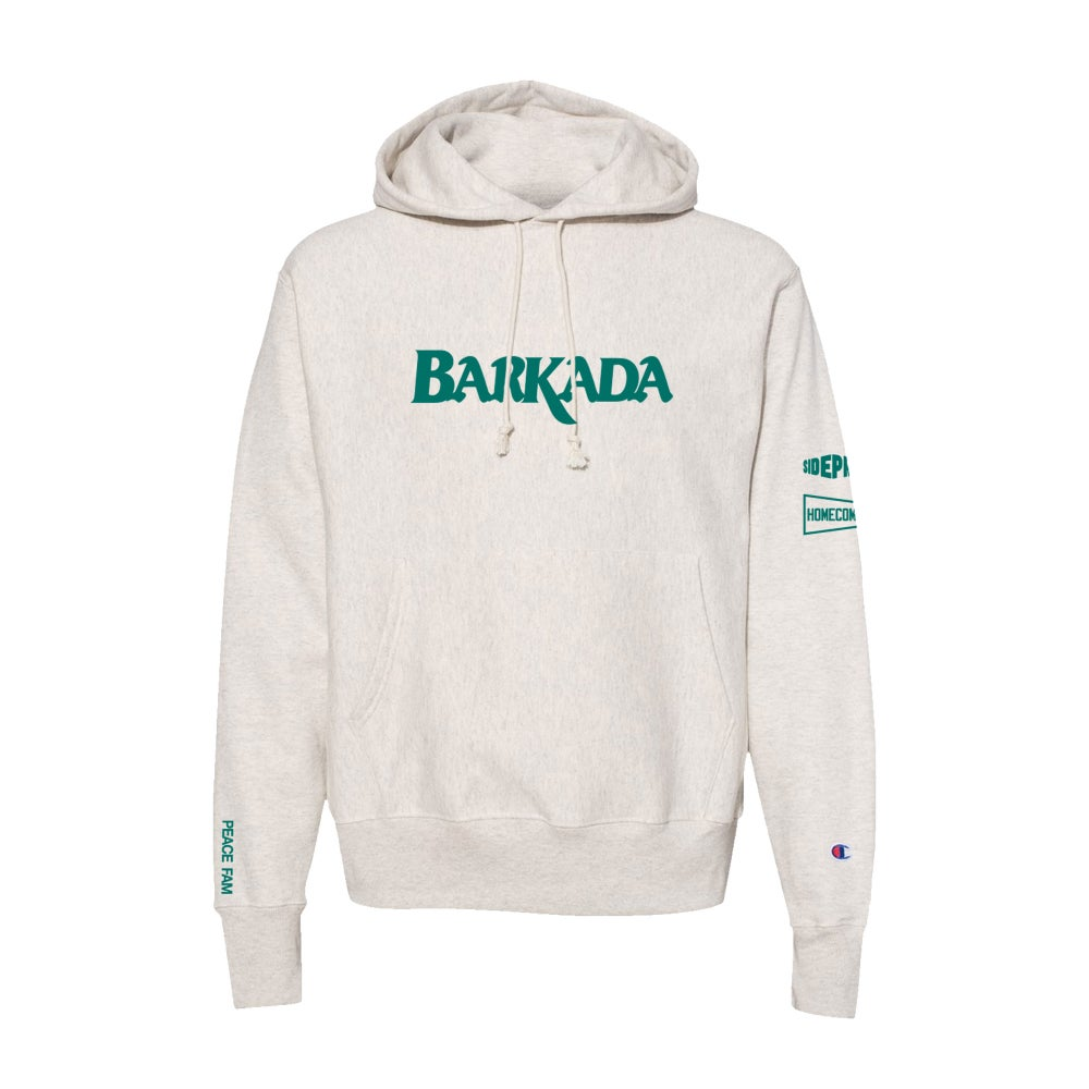 Image of HOMECOMING USA X SIDE PROJECT COFFEE BARKADA REVERSE WEAVE HOODIE
