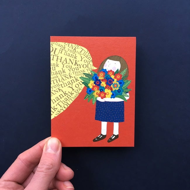 Image of Pack of 6 Mini Thank You Cards