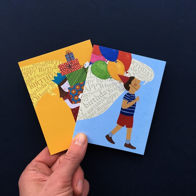 Image of Pack of 10 Mini Birthday Cards