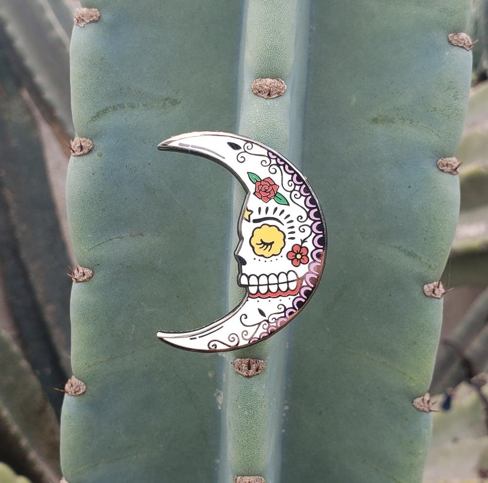 La Luna Calavera Enamel Pin