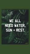 """Water, Sun + Rest"" 11x14 Poster"
