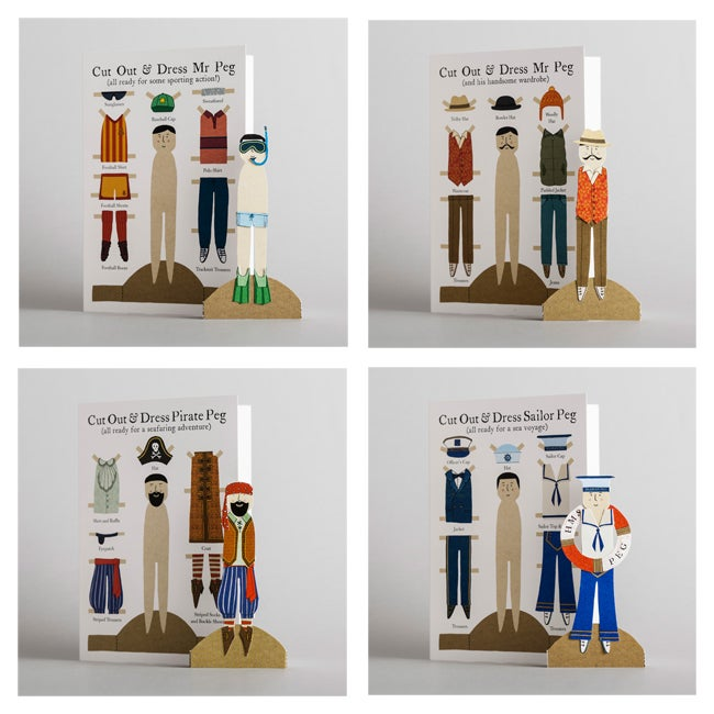 Image of Pack of 8 Peg Greetings Cards