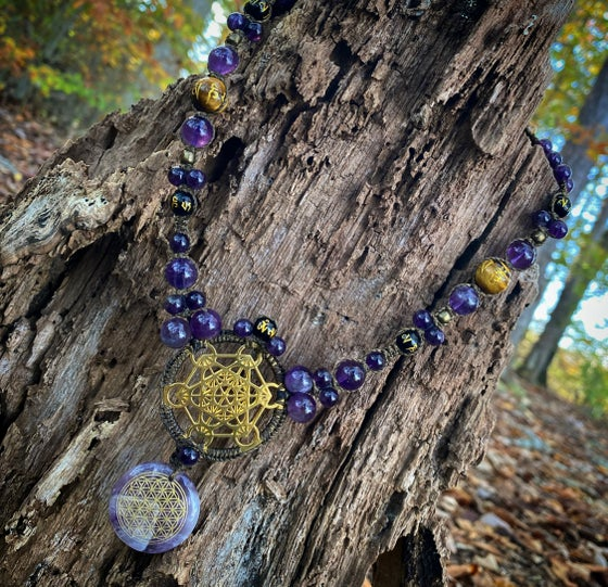 Image of Amethyst Sacred geometry necklace