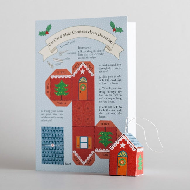 Image of Pack of 8 Cut-Out Christmas Cards