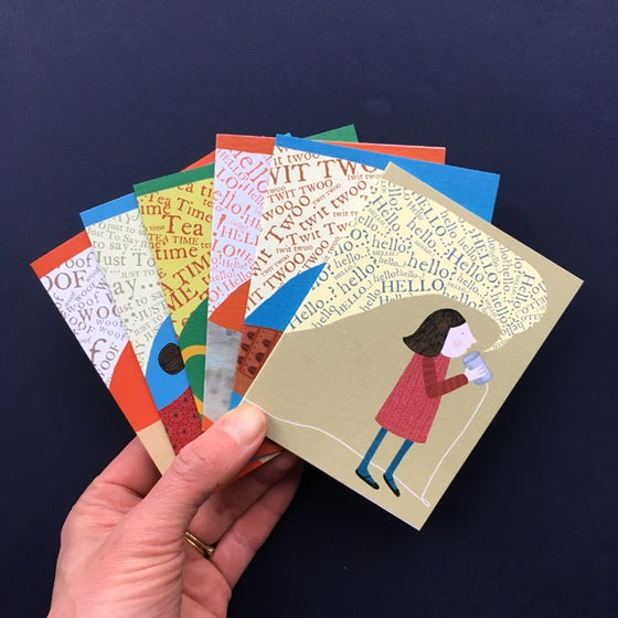 Image of Pack of 6 Mini Greetings Cards - Mix