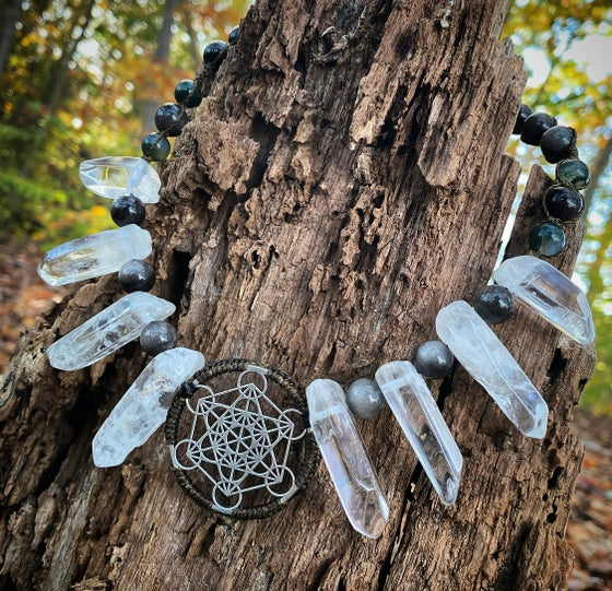 Image of Clear quartz Metatronscube necklace
