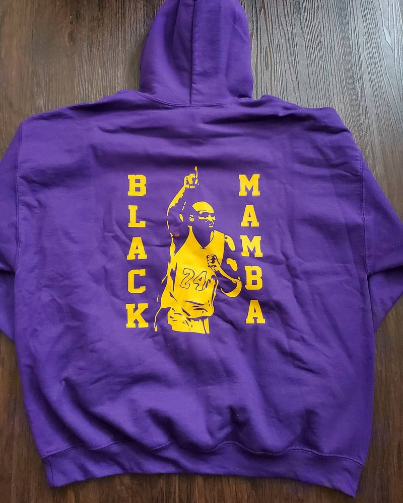 Image of Special Edition Black Mamba Hoodie with Script logo