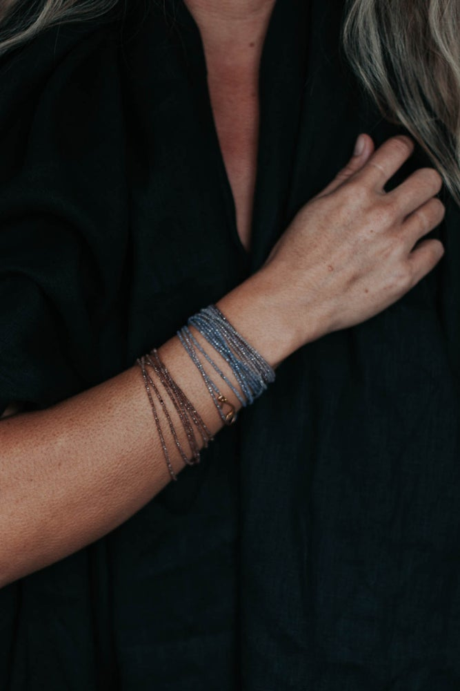 Image of Dark Grey Moonstone Wrap