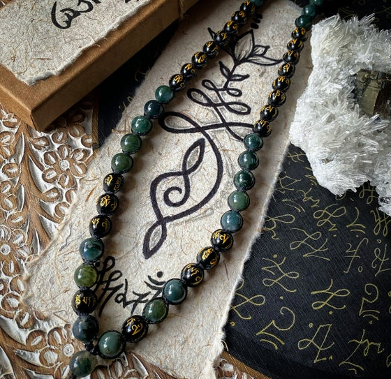 Image of Mala Beads - MossAgate