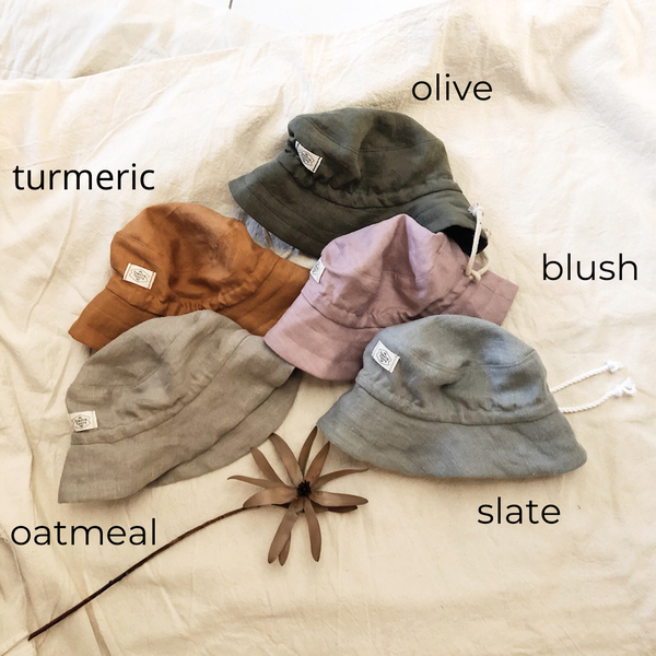 Image of LINEN BUCKET HAT