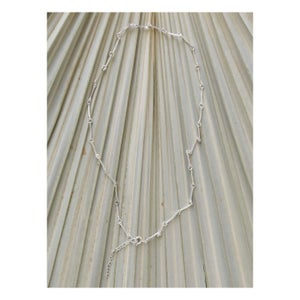 Image of Wishbone chains silver necklace