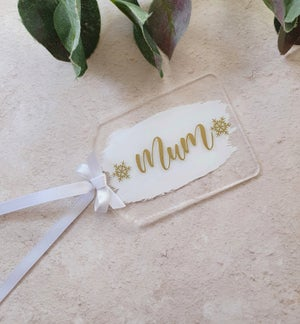 Image of Acrylic gift tags