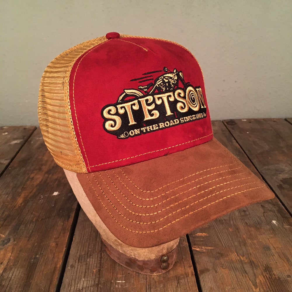 """Image of STETSON MESH CAP """"ON THE ROAD"""""""