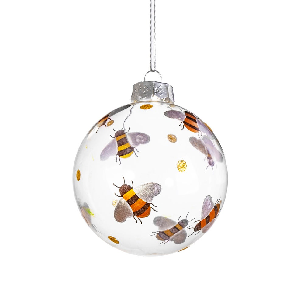 Image of Busy Bees Glass Bauble