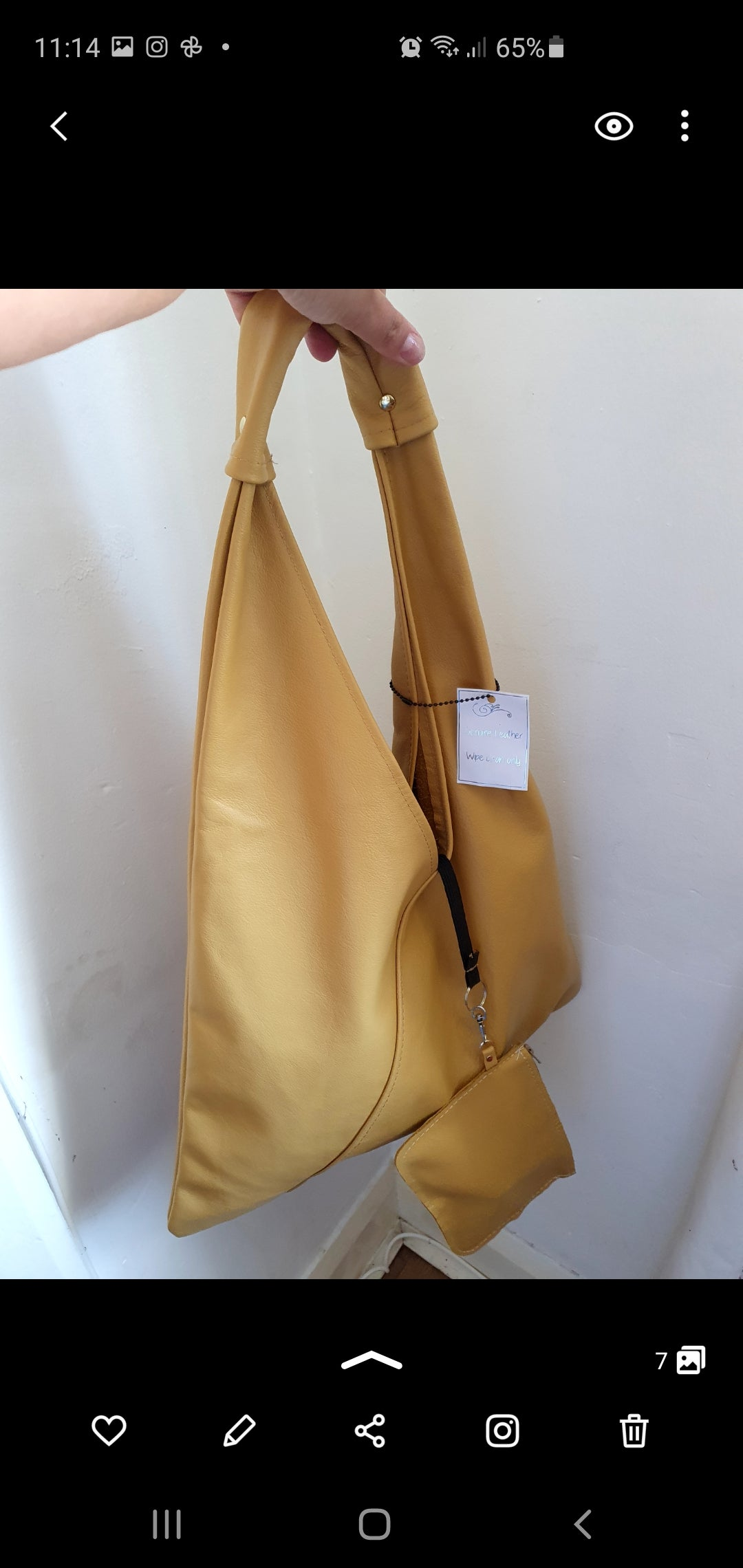 Image of Kaluha butter soft leather slouch bag MEDIUM