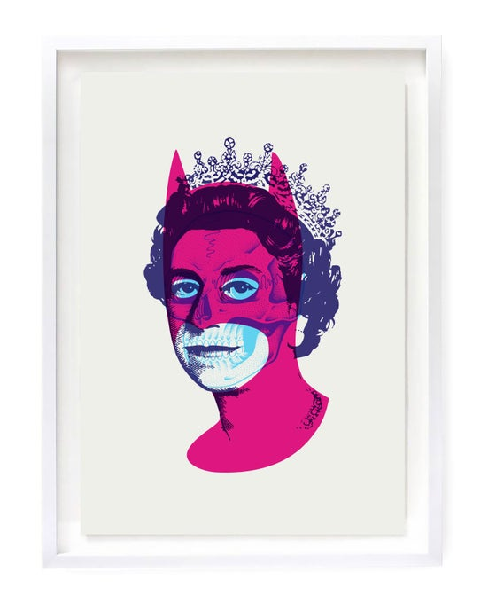 Image of Rich Enough To Be Batmans Skull (fluro pink variant)