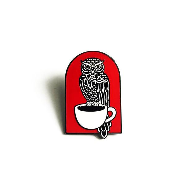 Image of Coffee Owl pin