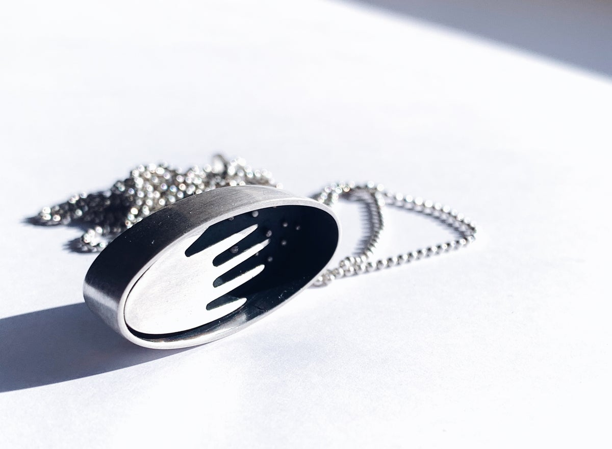 Image of Reaching for the stars locket necklace
