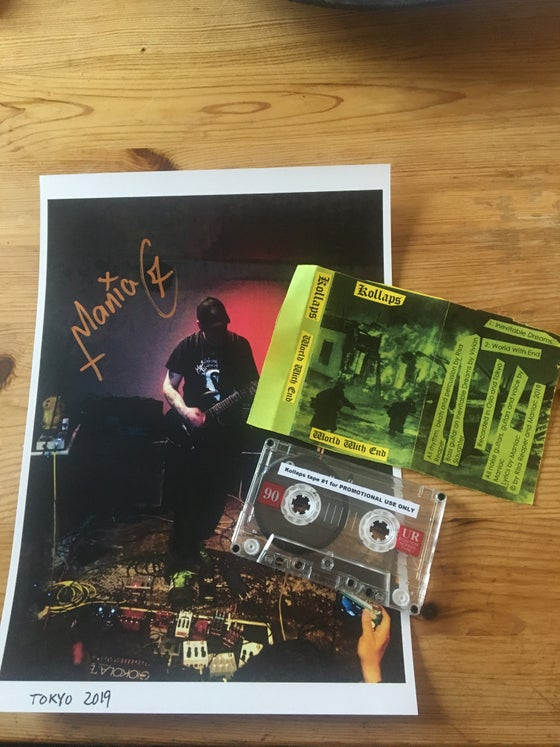 Image of Kollaps Maniac's project. Rare signed promo with photo