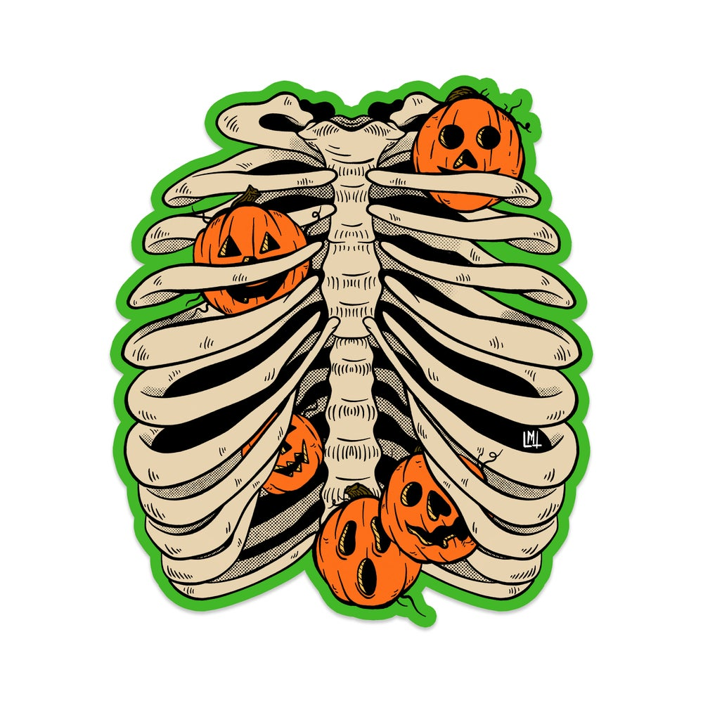 "Image of Pumpkin Guts 2.5"" x 2.9"" Sticker"
