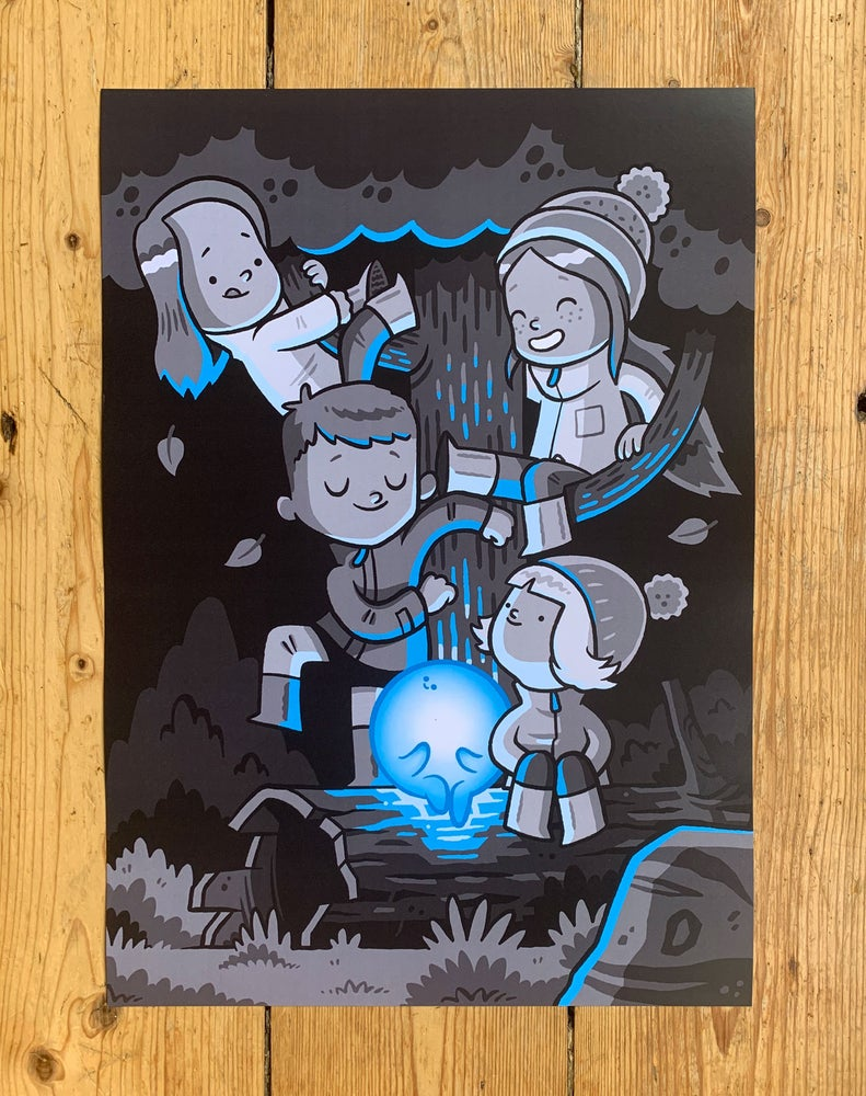 Image of The Seekers - Blue A3 Print
