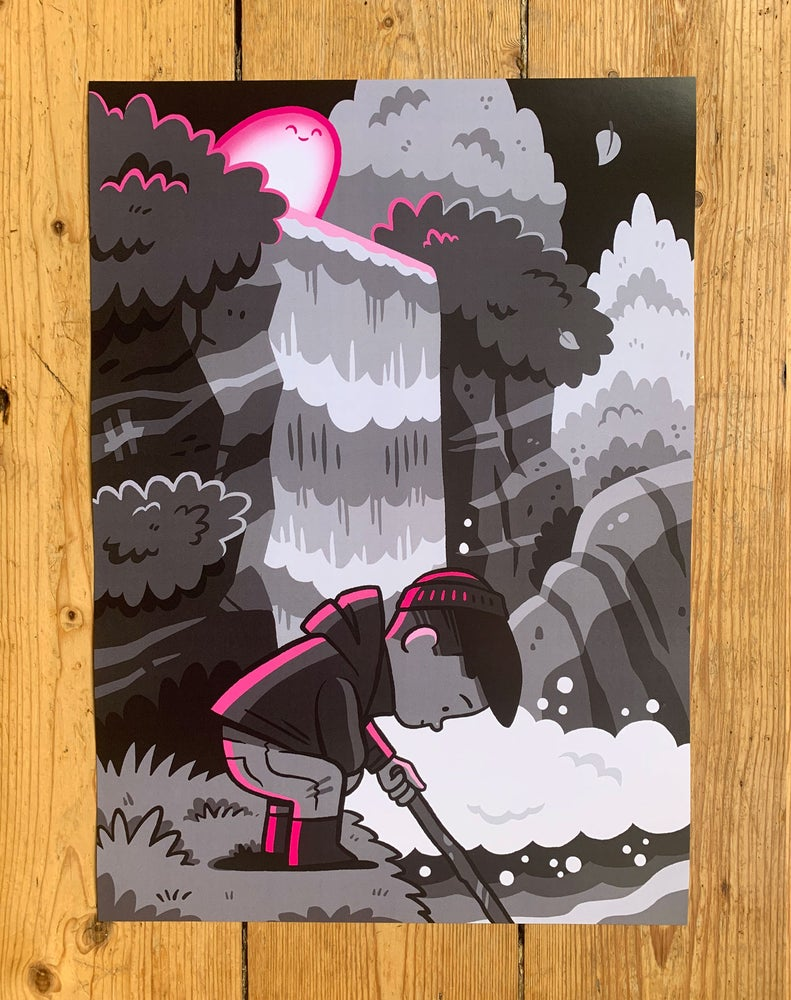 Image of The Seekers - Pink A3 Print