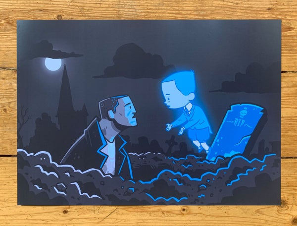 Image of Gravedigger & Ghost Boy - A3 Print