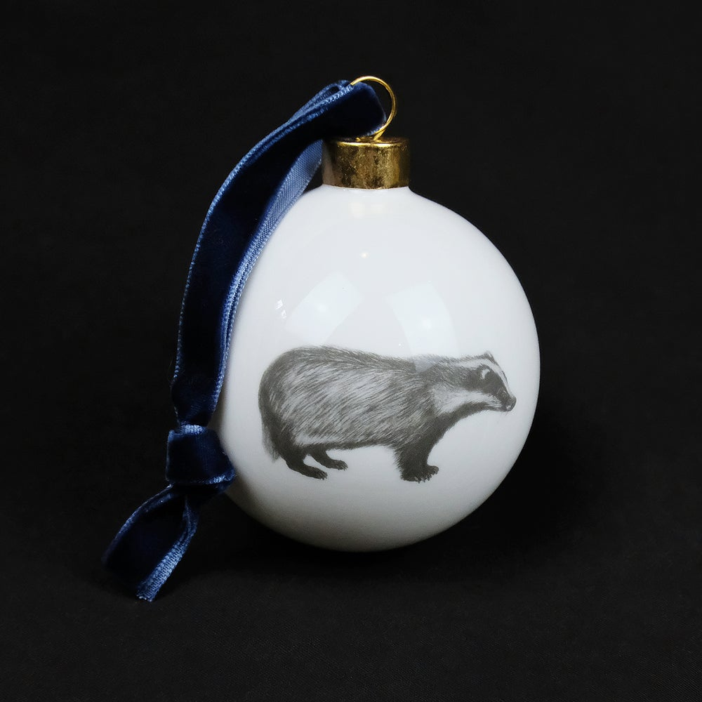 Image of Casey Allum - Christmas Bauble - Badger