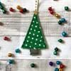 Textile Spotty Christmas Tree Decoration