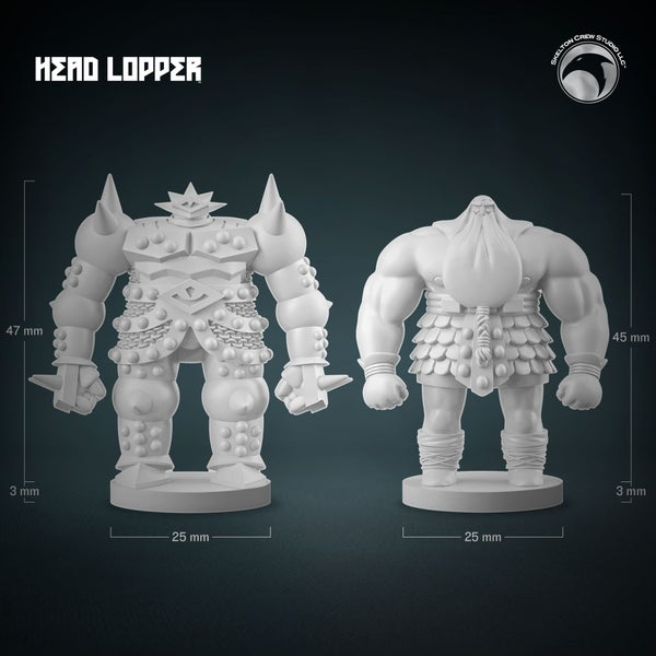 Image of Head Lopper: Norgal & Berserkr Mini Figs Set! LESS THAN 20 LEFT!