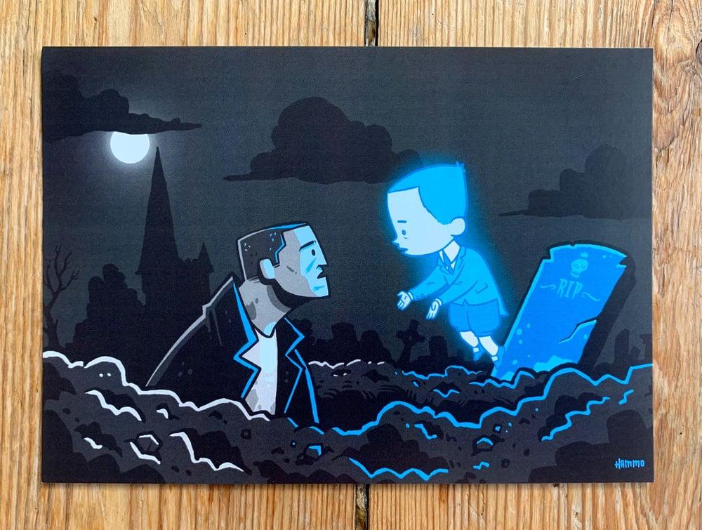 Image of Gravedigger & Ghost Boy Postcard