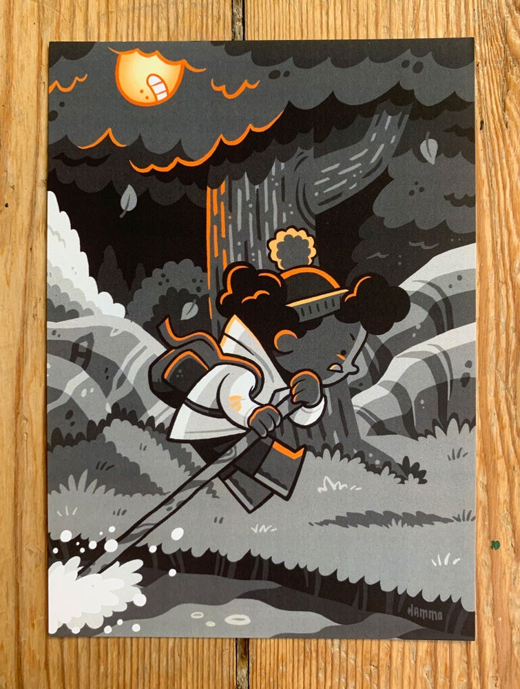 Image of The Seekers (Orange) Postcard