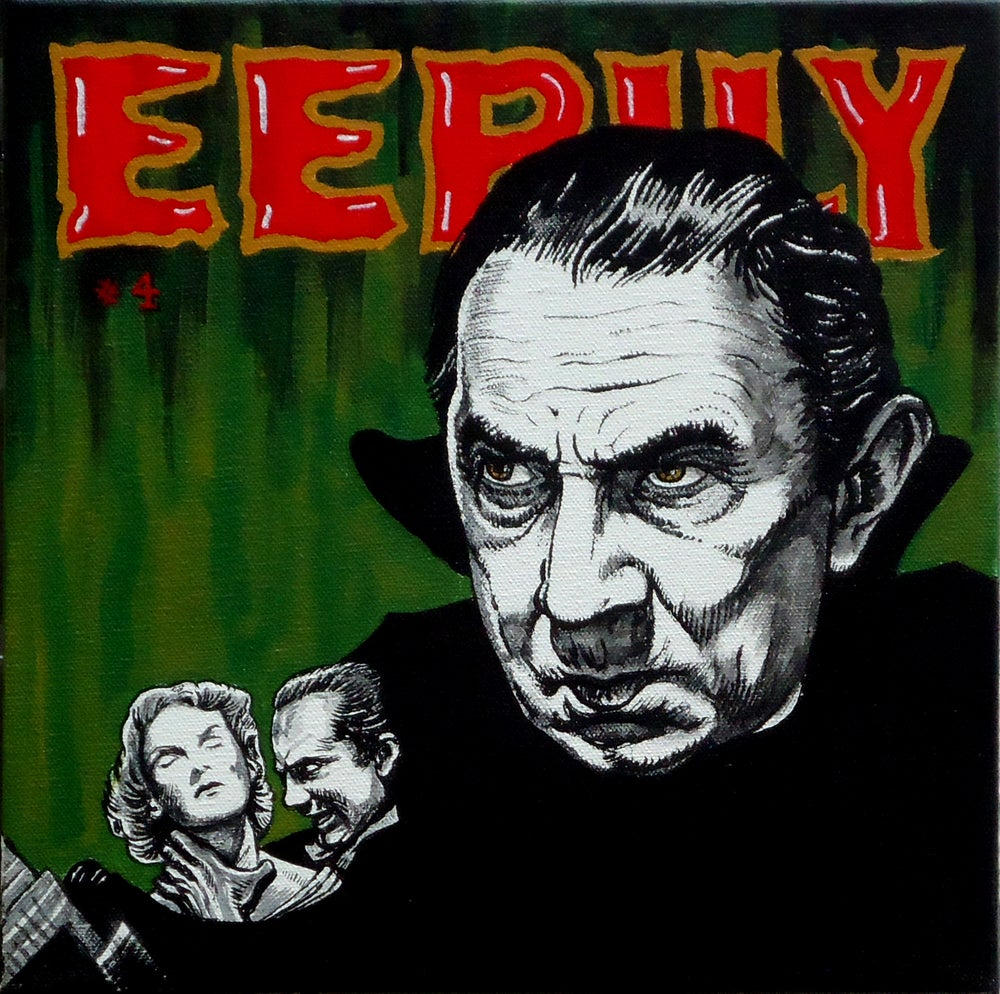 "Image of ""EERILY"" signed Giclee Bela Lugosi as Count Dracula"