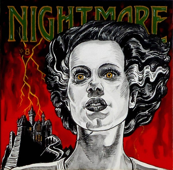 "Image of ""NIGHTMARE"" signed Giclee Elsa Lanchester as The Bride of Frankenstein"