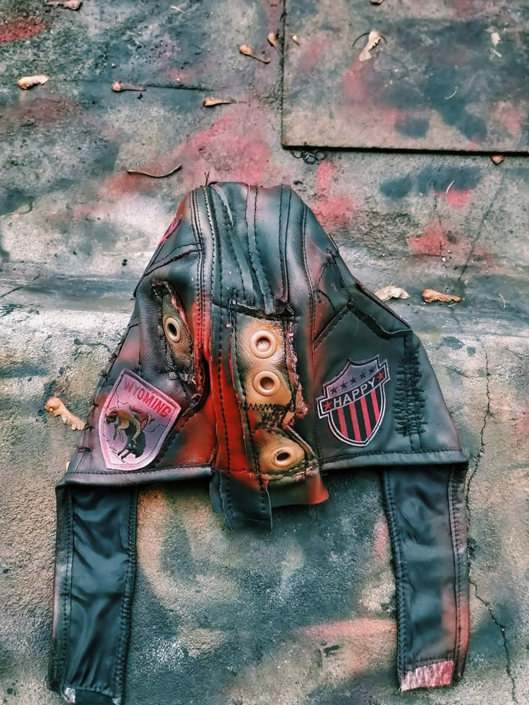 Image of Leather helmet