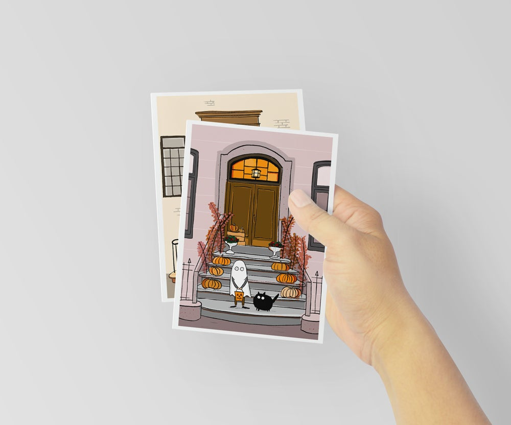 Image of Halloween Stoops Postcards