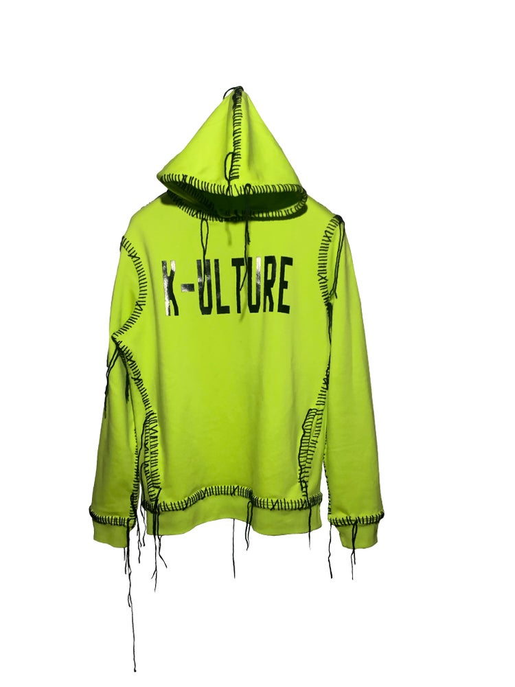 Image of DO IT FOR THE KULTURE LIME GREEN HOODIE