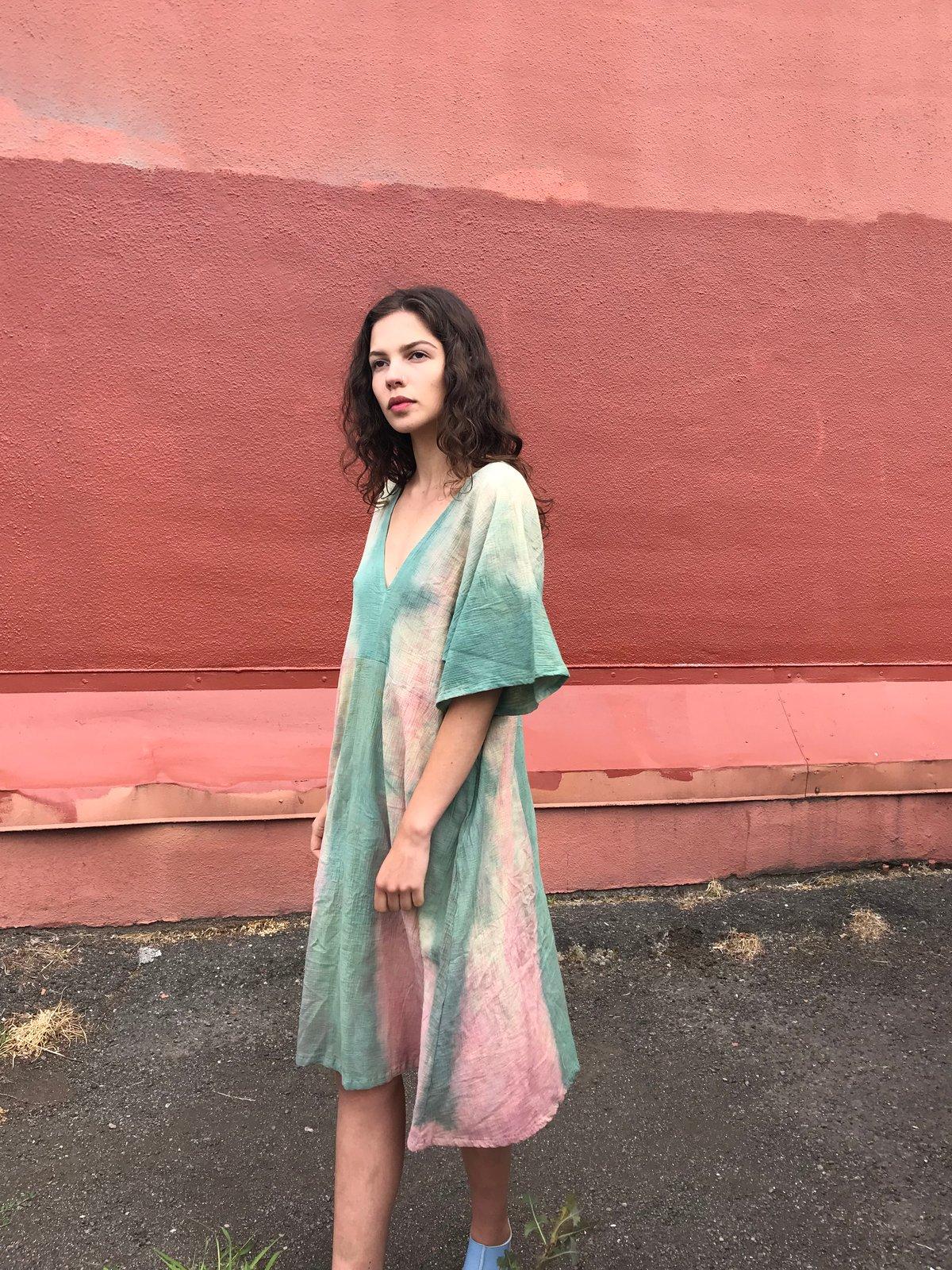 Image of Hand Dyed Gauze Dress