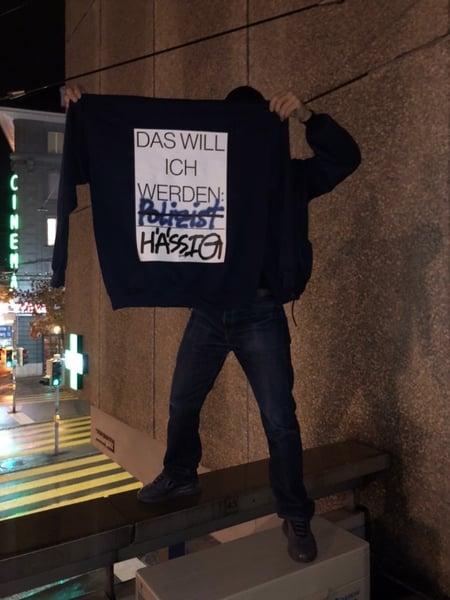 Image of pablo genoux x hässig sweater Anti Polizist NLP