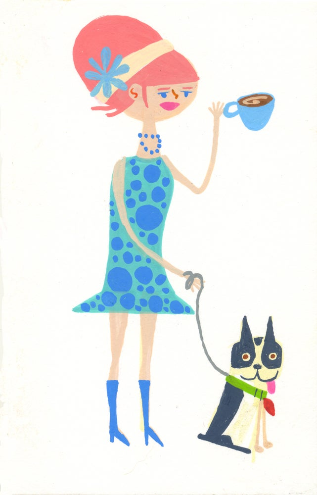 Image of Vivienne and Charlie. Original painting.
