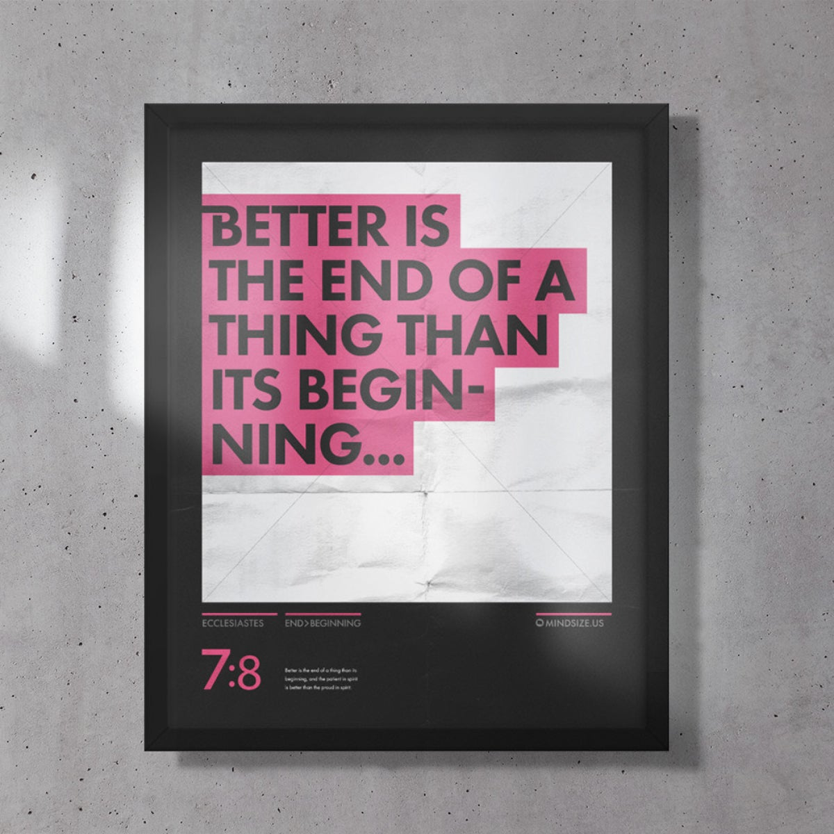Image of Better is the End