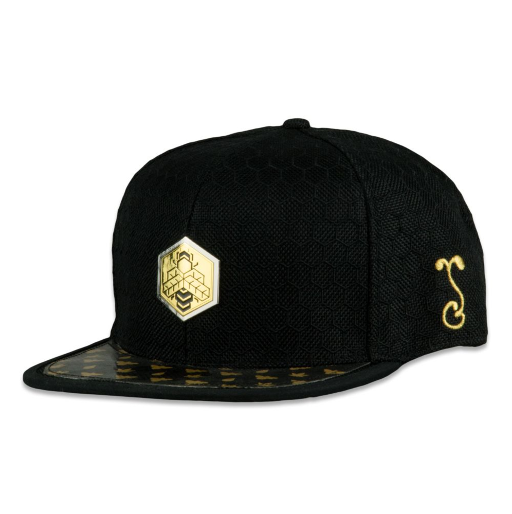 Image of NEW GRASSROOTS BEESLICK BLACK FITTED HAT