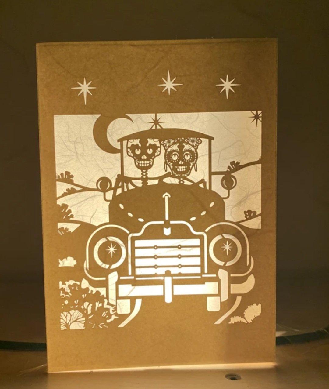 Image of Moonlight Ride Luminaria Note Card