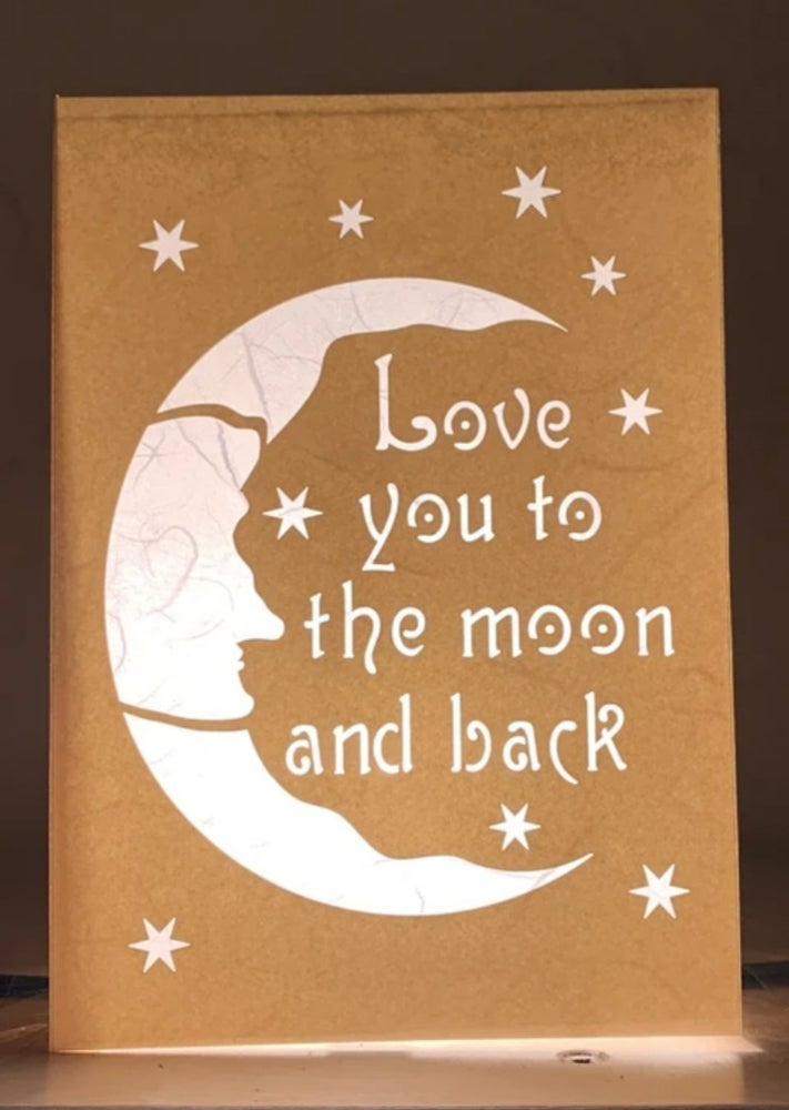 Image of Love you to the Moon Luminaria Note Card