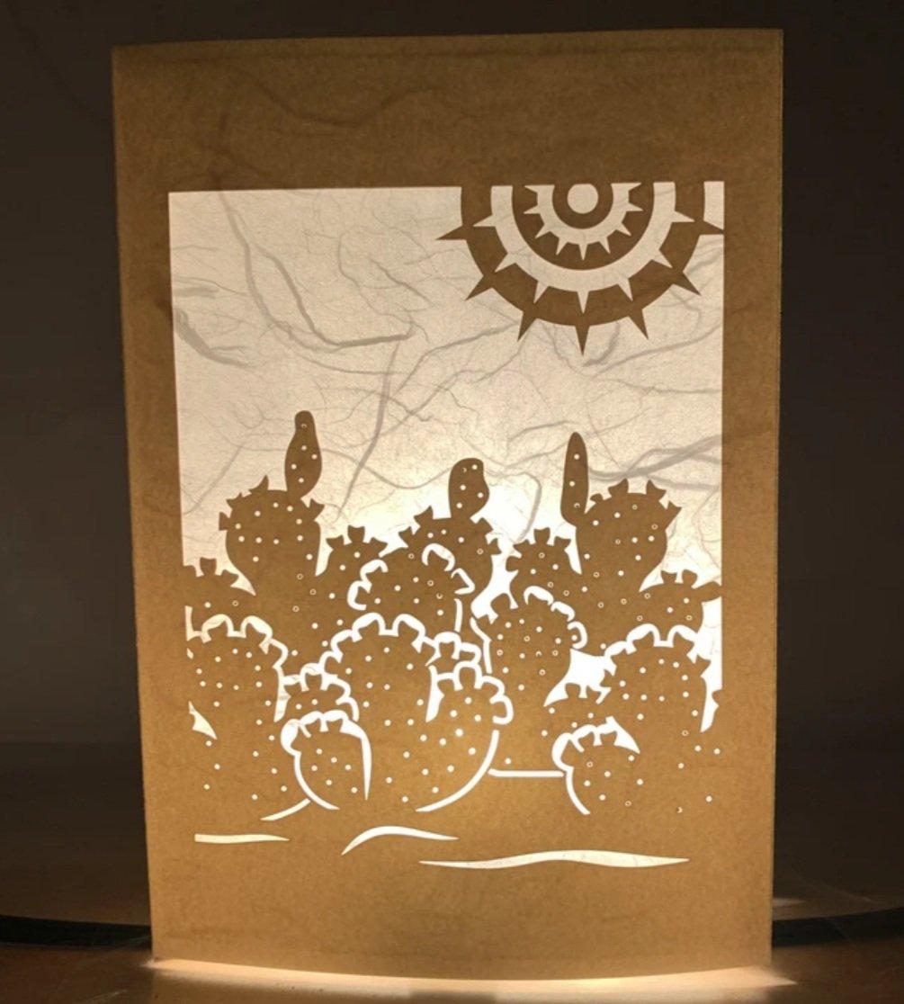 Image of Prickly Pear Luminaria Note Card