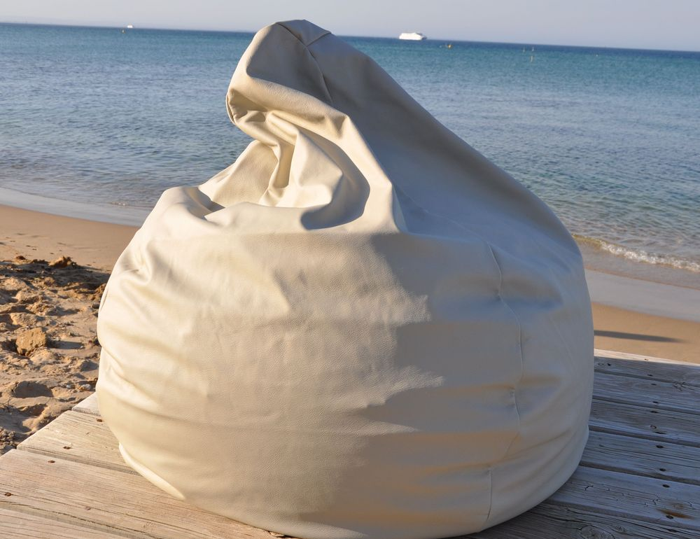 Image of Driftwood Leather Beanbag